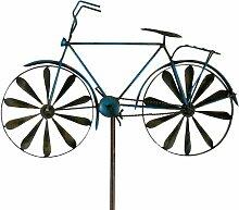 Windspiel Fahrrad Metallwindrad Bicylce Blue,