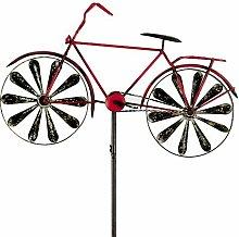 Windspiel Fahrrad Metallwindrad Bicylce Red,