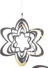 Windspiel Flower Edelst. D20/L70cm