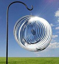 Windspiel Kugel groß 25x25cm Stab 100cm