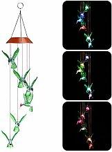 Windspiel mit LED-Beleuchtung, solarbetrieben,