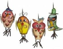 Windspiel - Mobile Vogelhochzeit - handbemaltes Metall - Abmessung, je Motiv: 7x7x17cm - inkl. Ketten zum Aufhängen
