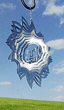 Windspiel Sonne groß 25x25cm Stab 100cm