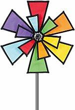 Windspiel Windmill 72x40cm Windmühle Terrasse Garten Balkon Dekoration Windrad