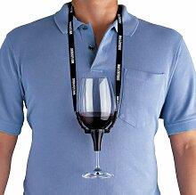 Wine Enthusiast Weinglas Halter Halskette,