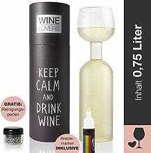 Wine Lovers Weinflasche Glas - Weinglas Flasche