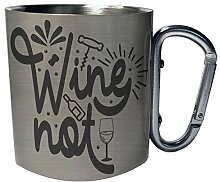 Wine not Edelstahl Karabiner Reisebecher 11oz