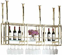 Wine Rack - Hängender Edelstahl-Goldeuropäischer