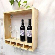 Wine Rack - Haushalts-festes Holz-Weinregal, Wand