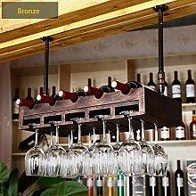 Wine Rack - Haushalts-Massivholz-Weinregal, Rote