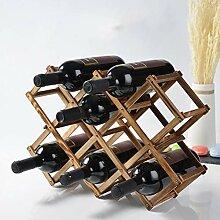Wine Rack - Hölzernes faltendes