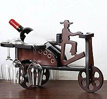 Wine Rack - Holz Weinregal Kreative Dreirad
