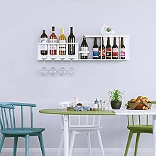 Wine Rack - Massivholz einfache Wand hängen
