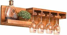 Wine Rack - Massivholz-Wandregal-modernes