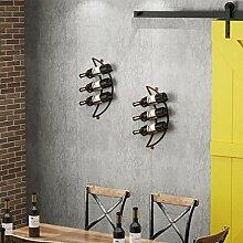Wine Rack - Metall Weinregal Moderne Kreative Wand