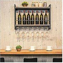Wine Rack - Wand-Weinregal Schmiedeeisen Weinglas