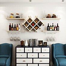 Wine Rack - Wand-Weinregal Wandregal Holz Rhombic
