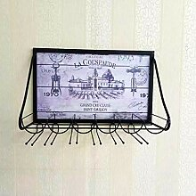 Wine Rack - Wandmontiertes Weinregal Aus Metall,