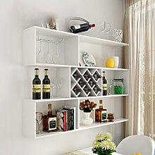 Wine Rack - Weinregal Wand Holz Weinschrank Wand