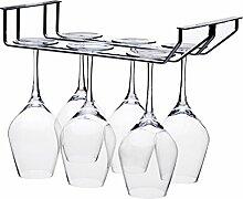 Wine Rack, Wolfbush 2 Reihen Edelstahl Stand Tall Getränkehalter Weinglas Rack Hänge Rotwein Glasass Holder Weinregale - Silber