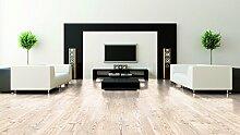 WINEO Windmöller Purline 1000 wood Malmoe Pine Bio-Klick-Designboden - ökologischer Bodenbelag in Holzdielenoptik zum Klicken - Paket a 2,02m²