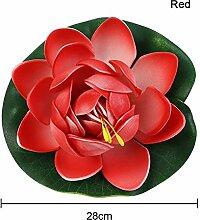 Wingbind 1 STÜCKE Künstliche Lotus Blumen, Vivid