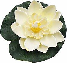 Wingbind 5 STÜCKE Künstliche Lotusblumen, Real Touch Schaum Lotus Blume für Aquarium Terrasse Garten Schwimmbecken Dekoration Hochzei