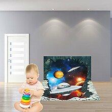 Winhappyhome 3D Raumfahrzeug Boden Aufkleber Kunst