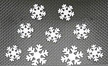 Winhappyhome Abnehmbarer 3D Selbstklebende Kunststoff Schneeflocke Aufkleber für KüHlschrank Wand Hintergrund Dekor (Weiß)
