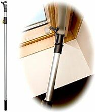 winhux® Teleskop Fenster Stange Entwickelt zu Kontrolle Velux® Dachfenstern und Jalousien, silber, 1.1-2.0m SILVER