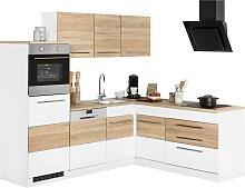Winkelküche Trient, ohne E-Geräte, Stellbreite