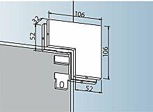 Winkelverbindung PT 60, Glas 10 mm, Aluminium