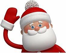 Winkender Weihnachtsmann, Fensterdekoration von
