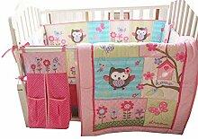 WINLIFE 7-teiliges Bettwäsche-Set für Babybett,