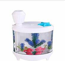 WINNERUS Fish Tank Light Humidifier Night Light Misting Purifier Air Maker Aquarium Lamp Air Purifier Misting Maker (Weiß)