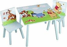 Winnie the Pooh Kleiner Tisch und Stühle (Blau)
