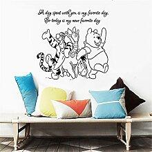 Winnie The Pooh Wandtattoo Aufkleber mit Freunden