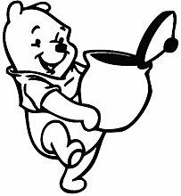 Winnie The Pooh Wandtattoo Aufkleber mit Honigglas
