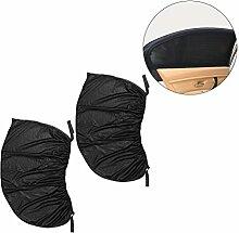 WINOMO 2PCS Auto-seitliches Fenster Sun-Schatten-Schwarzes Ineinander greifen-Auto-seitliches hinteres Fenster Sun-Farbton-Abdeckungs-Schirm 113 * 50cm