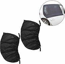 WINOMO 2PCS Auto-Sonnenschutz-Schutz-Universal-Sitz-Auto-seitliche hintere Fenster Sun-Schatten-Abdeckungs-Tür-Abdeckung 126 * 52cm