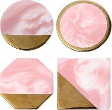 WINOMO 4 Stück Runde Keramik Untersetzer Stein