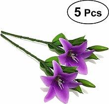 WINOMO 5 Stücke Künstliche Lila Lilie Blume