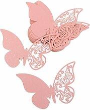 WINOMO 50PCS hohlen Schmetterling Stil Hochzeit