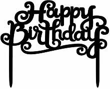 WINOMO Alles Gute zum Geburtstag Kuchen Bunting