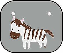 WINOMO Auto Sonnenschirm Auto Baby Side Windschutzscheibe Sonnenschutz UV Strahlen Schutz Sonnenschutz (Zebra)