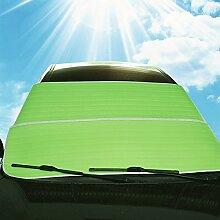 WINOMO Auto Windschutzscheibe Sonnenschirm Abdeckungen vorne Fenster Sonne Schatten Sonne Visiere Schutz Schutz (grün)