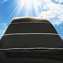 WINOMO Auto Windschutzscheibe Sonnenschutz Frontscheibe Schatten Sonnenschutz Visiere Schutzschilde (schwarz)
