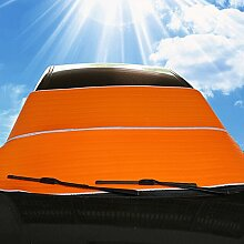 WINOMO Auto Windschutzscheibe Sonnenschutz Frontscheibe Sonnenschutz, Sonnenschutz Visiere Schutzschilde (Orange)