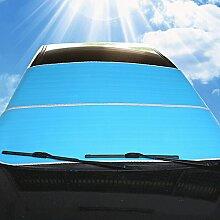 WINOMO Auto Windschutzscheibe Sonnenschutz Frontscheibe Sonne Schatten Schutz Windschutz (blau)