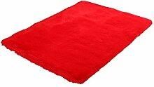 WINOMO Hochflor Shaggy Teppiche Langflor Rot für